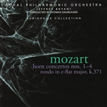 Royal Philharmonic Orchestra - Mozart: Horn Concertos Nos. 1-4; Rondo in E-flat major CD Cover Art