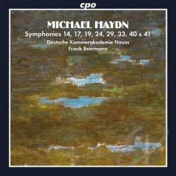 Beermann / Deutsche Kammerakademie Neuss / Haydn - Michael Haydn: Symphonies 14, 17, 19, 24, 29, 33, 40 & 41 CD Cover Art