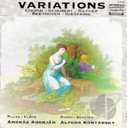 Adorjan / Beethoven / Kontarsky / Schubert - Variations For Flute CD Cover Art