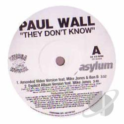 Wall, Paul - They Don't Know LP Cover Art