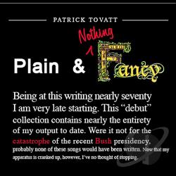 Tovatt, Patrick - Plain & Nothing Fancy CD Cover Art