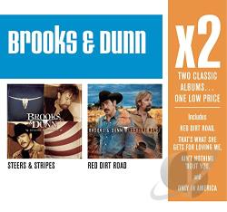 Brooks & Dunn - Steers & Stripes/Red Dirt Road CD Cover Art
