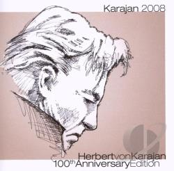 Karajan, Herbert Von - Herbert von Karajan 100th Anniversary Edition CD Cover Art