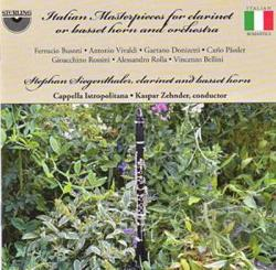 Capella Istropolitana / Siegenthaler / Zehnder - Italian Masterpieces for Clarinet or Basset Horn and Orchestra CD Cover Art