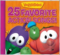 VeggieTales - 25 Favorite Action Songs! CD Cover Art
