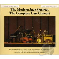 Modern Jazz Quartet - Complete Last Concert CD Cover Art