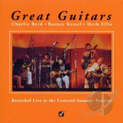 Byrd, Charlie / Ellis, Herb / Kessel, Barney - Great Guitars CD Cover Art