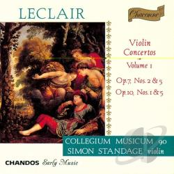 Collegium Musicum 90 / Leclair / Standage - Leclair: Violin Concertos, Vol. 1 CD Cover Art