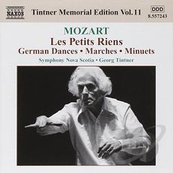Mozart / Symphony Nova Scotia / Tintner - Mozart: Les Petits Riens; German Dances; Marches; Minuets CD Cover Art