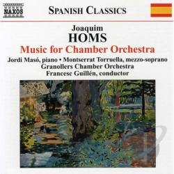 Guillen / Joaquim - Joaquim Homs: Music for Chamber Orchestra CD Cover Art