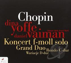 Vaiman, Dani / Yoffe, Dina:pno - Chopin: Konzert f-moll solo; Grand duo CD Cover Art