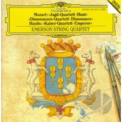 Meyer, Edgar - Mozart: Hunt & Dissonance Quartets;  Haydn / Emerson Qt CD Cover Art