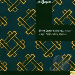 Arditti String Quart - Elliot Carter: String Quartets 1-4; Elegy CD Cover Art
