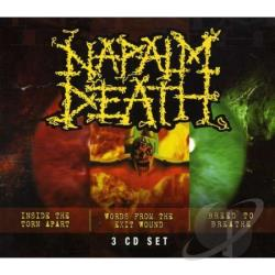 Napalm Death - Inside The Torn Apart / Words From The Exit Wound CD Cover Art