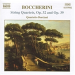 Boccherini / Quartetto Borciani - Boccherini: String Quartets, Opp. 32 & 39 CD Cover Art