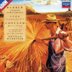 Barber / Copland / Ives - Barber: Adagio For Strings; Ives; Symphony No. 3; Copland: Quiet City CD Cover Art