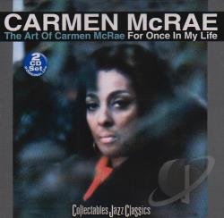 McRae, Carmen - Art of Carmen McRae/For Once in My Life CD Cover Art