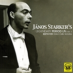 Starker, Janos - Vol. 2 - Legendary Period LPS: Beethoven Cello Sonat CD Cover Art