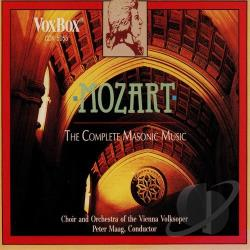 Equiluz / Maag / Mozart - Mozart: The Complete Masonic Music CD Cover Art
