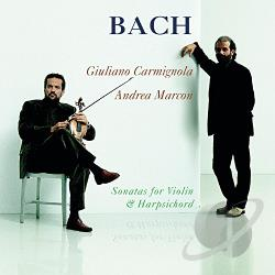 Carmignola, Giuliano - Bach: Sonatas for Violin & Harpsichord CD Cover Art