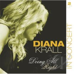 Krall, Diana - Doing All Right-In Concert LP Cover Art