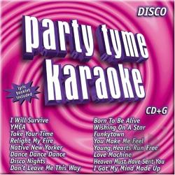 Sybersound - Party Tyme: Disco Hits CD Cover Art
