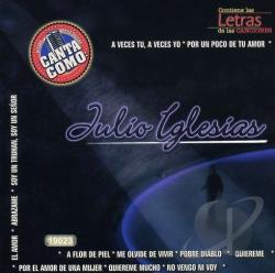 Karaoke - Canta Como: Julio Iglesias CD Cover Art