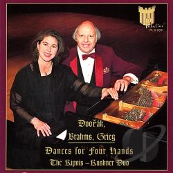 Kipnis-Kushner Duo - Dvorak, Brahms, Grieg: Dances for Four Hands CD Cover Art