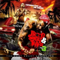 Game / Lil Wayne - Blood Sweat & Tears 3 CD Cover Art