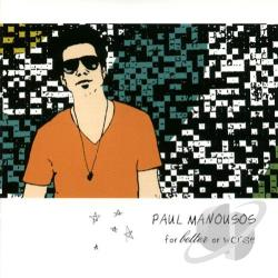 Paul Manousos - For Better Or Worse CD Cover Art