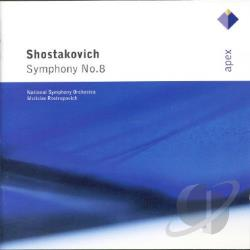 National Sym Orch / Rostropovich / Shostakovich - Shostakovich: Symphony No. 8 CD Cover Art