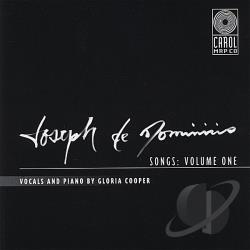 Cooper, Gloria - Joseph de Dominicis Songs, Vol. 1 CD Cover Art