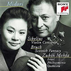 Bruch / Mehta / Midori / Sibelius - Sibelius: Violin Concerto; Bruch: Scottish Fantasy CD Cover Art