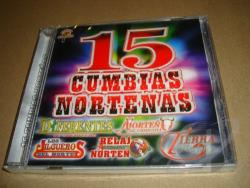 15 Cumbias Nortenas CD Cover Art