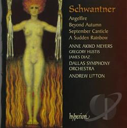 Diaz / Hustis / Meyers / Schwantner - Schwanter: Angelfire; Beyond Autumn; September Canticle; A Sudden Rainbow CD Cover Art