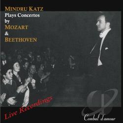 Beethoven / Katz / Mozart - Mindru Katz Plays Concertos by Mozart & Beethoven CD Cover Art