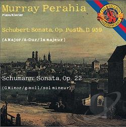 Perahia, Murray / Schubert / Schumann - Schubert, Schuman: Piano Sonatas CD Cover Art