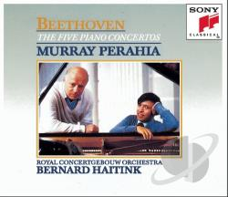 Beethoven / Cgb / Perahia - Piano Concerti 1-5 CD Cover Art