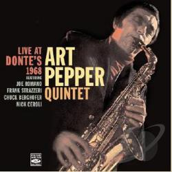 Pepper, Art - Live at Donte's 1968 CD Cover Art