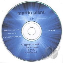 Plant, Martin - I.E. CD Cover Art