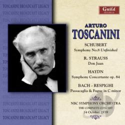 Nb / Toscanini, Arturo - Schubert: Symphony No. 8; R. Strauss: Don Juan; Haydn: Symphony Concertante CD Cover Art