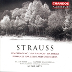 Hulse / Jarvi / Rsno / Strauss, R. / Wallfisch - Strauss: Symphony No. 2 in F minor; Six Songs; Romanze for Cello and Orchestra CD Cover Art