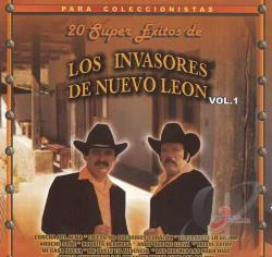 Los Invasores De Nuevo Leon - Vol. 1 - 20 Super Exitos CD Cover Art