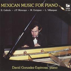 Gonzalez-Espinosa, D - Mexican Music For Piano CD Cover Art