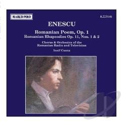 Enescu - Enesco: Roumanian Rhapsodies, Poem / Conta, Roumanian RTVO CD Cover Art