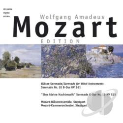 Mozart - Wind Instruments Serenade CD Cover Art