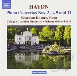 Cologne Co / Haydn / Knauer / Muller-Bruhl - Haydn: Piano Concertos Nos. 3, 4, 9 & 11 CD Cover Art