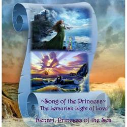 Nenari, Princess of the Sea - Song of the Princess: The Lemurian Light of Love CD Cover Art