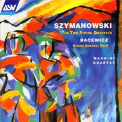 Maggini Quartet - Szymanowski: String Quartet No. 1; Stri CD Cover Art