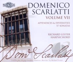 Lester, Richard: hpsd - Domenico Scarlatti: The Complete Sonatas, Vol. 7 - Appendices and Diversities, 57 Sonatas CD Cover Art